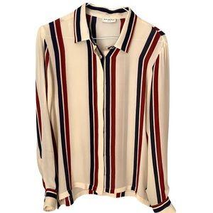 Dries Van Noten silk button down blouse med